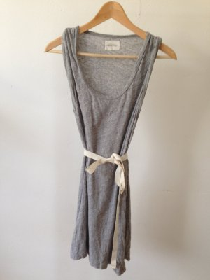 American Vintage Robe mi-longue gris clair-gris
