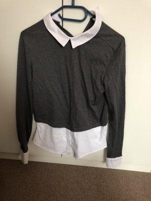 Graues Langärmliges Tshirt