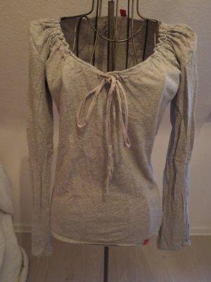 graues langarm Shirt von Esprit mit elegantem Kragen