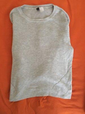 H&M Divided Cropped shirt lichtgrijs