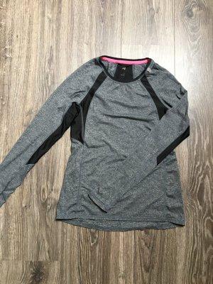 Graues Langarmsportshirt