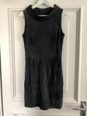 Hallhuber Leather Dress grey-dark grey