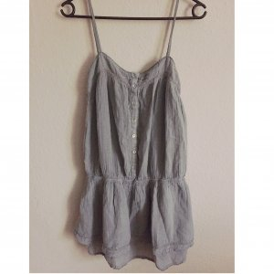 Zara Vestido gris-gris claro