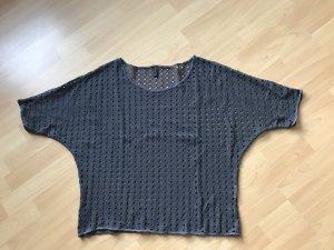 Vero Moda Gehaakt shirt antraciet