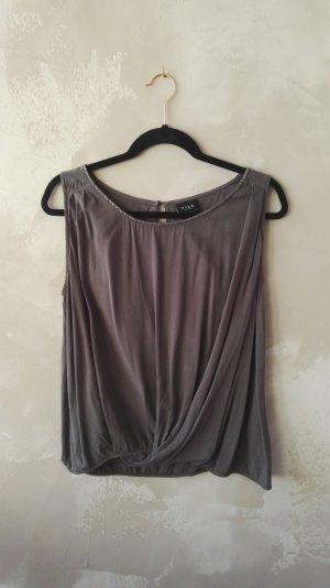 Vila Top schiena coperta grigio-grigio scuro