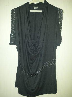 Kik Lang shirt grijs-donkergrijs