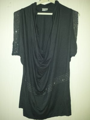 Kik Camisa larga gris-gris oscuro