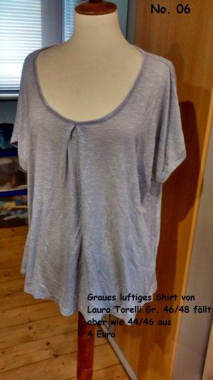 Graues luftiges Shirt von Laura Torelli Gr. 44/46