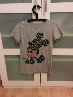 Graues MickeyMouse TShirt Strassbesetzt