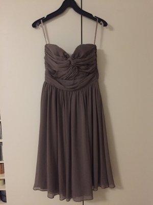 H&M Vestido bandeau gris