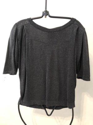 Gebreid shirt donkergrijs-antraciet