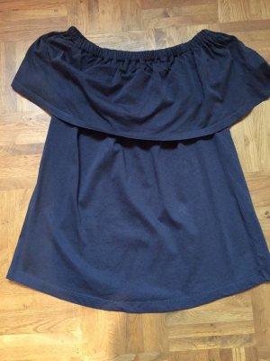 graues Offshoulder-Shirt von Vila