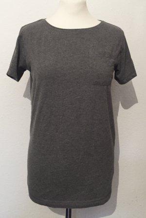 Graues Oversized Shirt mit Tasche