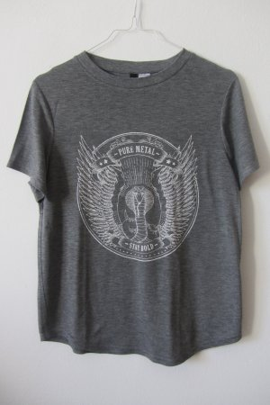 graues Print-T-Shirt von H&M, 36