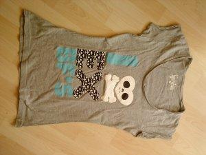 graues Printshirt Größe 38