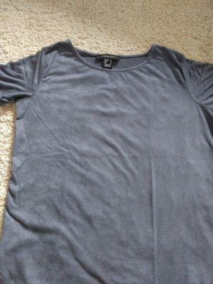 Graues Shirt aus Samt