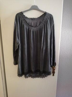 Ulla Popken Camisa tipo túnica gris