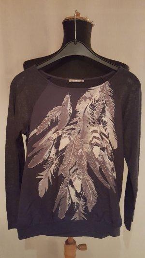 Graues Shirt, mit Aufdruck