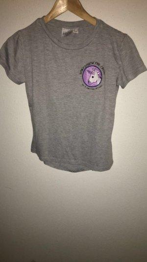 Graues Shirt mit Einhorn