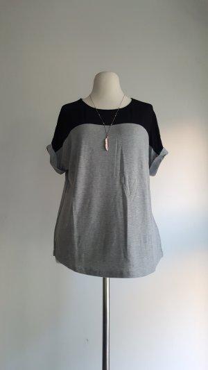 Graues Shirt mit Netzstoff