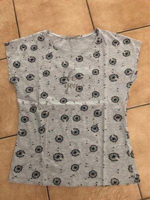 Graues Shirt mit Pusteblumen von Orsay - Gr. S