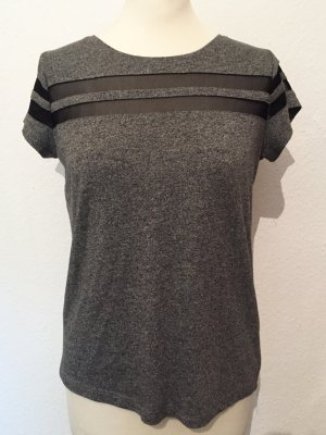Graues Shirt mit transparenten Details