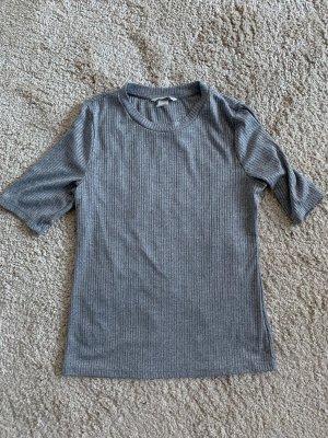 H&M Camisa acanalada gris