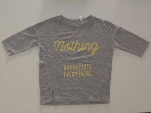 Graues Shirt von Zara in der Größe S