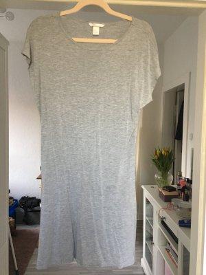 H&M Vestido estilo camisa gris claro