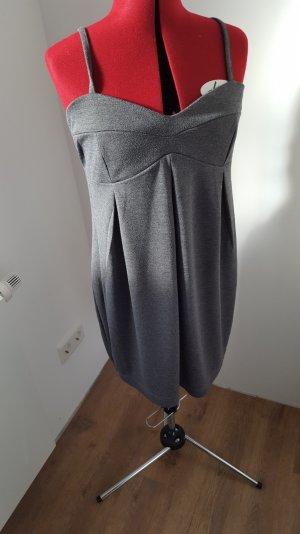 graues Shirtkleid Gr M