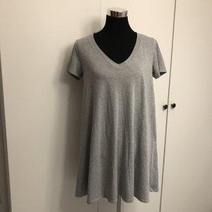 Graues Shirtkleid grau