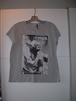 graues Star Wars T-Shirt Yoda von Fishbone Gr. XL 42
