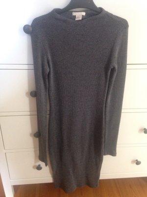 H&M Gebreide jurk grijs-antraciet
