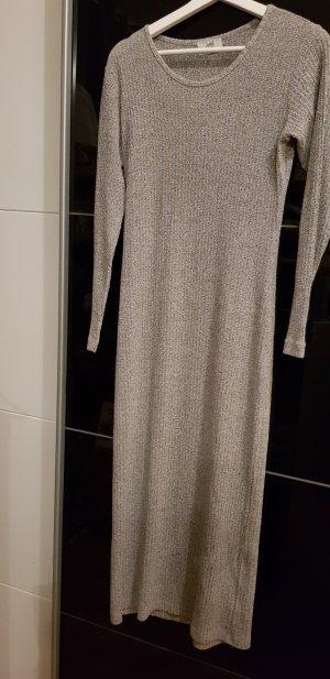 Vestido de lana gris claro