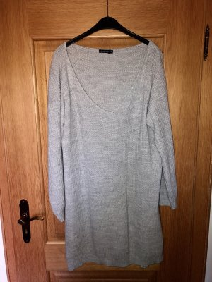 Boohoo Knitted Dress light grey-grey