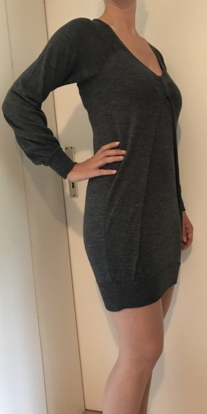 Graues Strickkleid Langarm Kleid von Kontatto Größe 36 - 38 Top Zustand