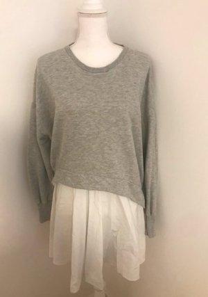 Zara Suéter color plata Algodón