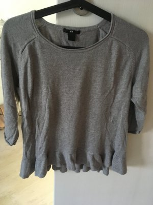 Graues Sweatshirt in Wasserfalloptik