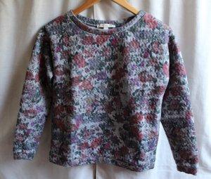 Graues Sweatshirt mit Blumenmuster