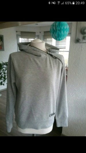 Graues Sweatshirt mit Kapuze