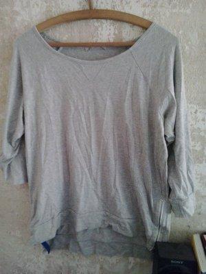 Graues Sweatshirt mit Reisverschlüssen