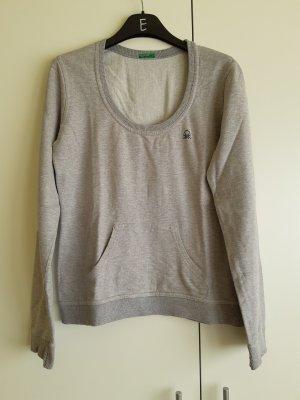 Benetton Sweat Shirt light grey-grey cotton