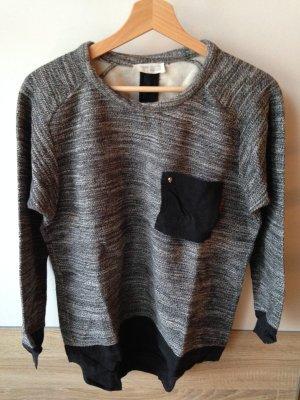 Zara Sweatshirt noir-gris