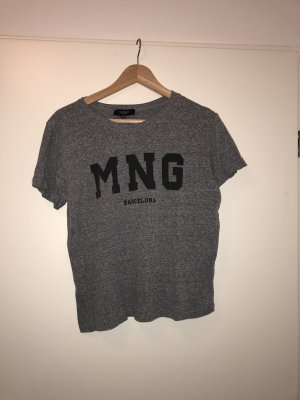 Mango T-shirt grigio chiaro-argento
