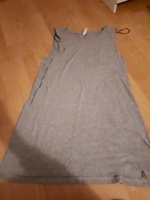 H&M Vestido de tela de sudadera gris