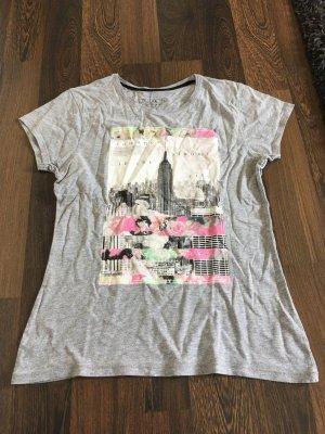 Graues T-Shirt mit Aufdruck