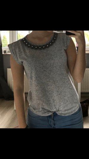 Graues T-shirt mit Kragen