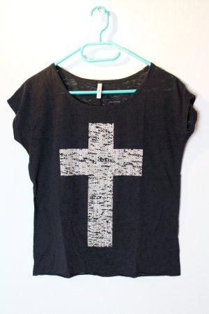 Graues T-Shirt mit Kreuz von Fishbone