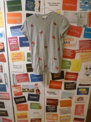 Graues T-Shirt mit Melonen-Stickereien von Jake*s