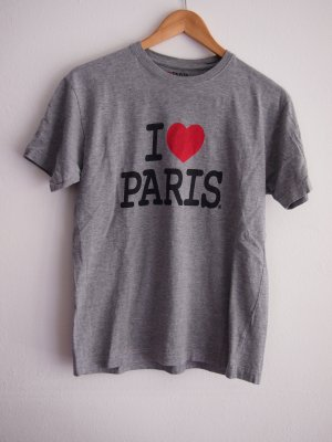 T-Shirt silver-colored-red cotton